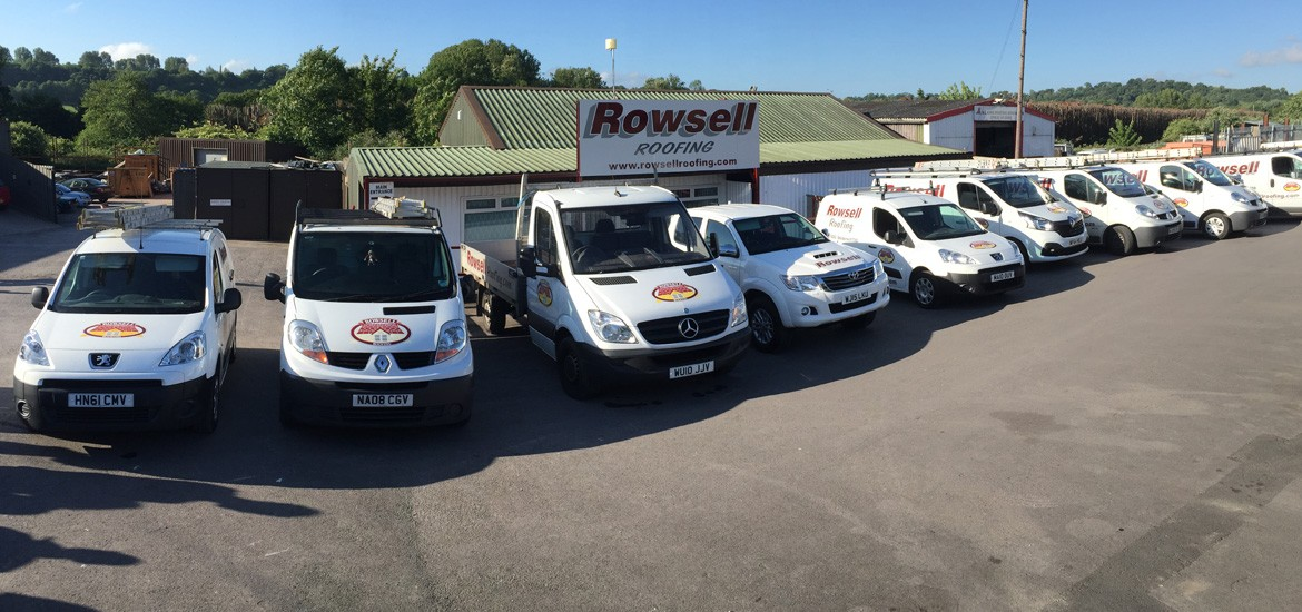 Rowsell Roofing Vehicle Fleet